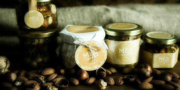 орехи с медом в банках