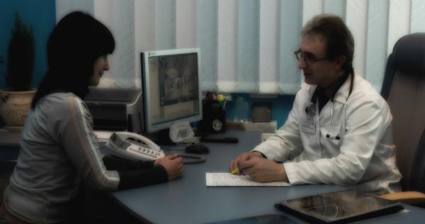 иммунолог с пациентом