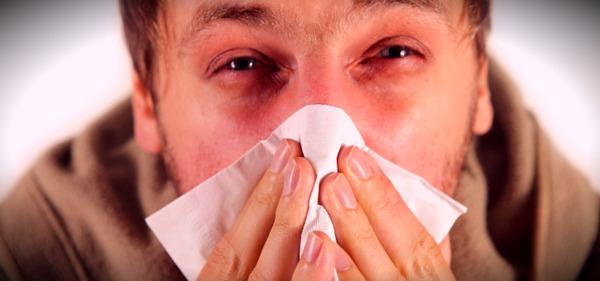 мужик с аллергией