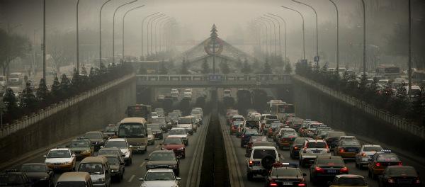 москва пробки смог
