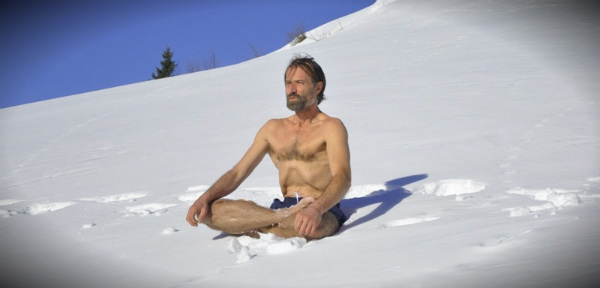 вим хоф на снегу