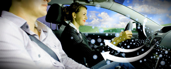 потоки воздуха в машине