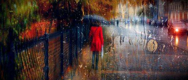 осенний дождь на улице