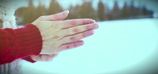 согревание рук на морозе