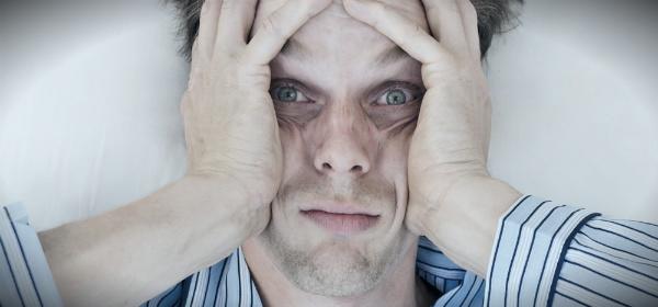 недостаток сна на лице