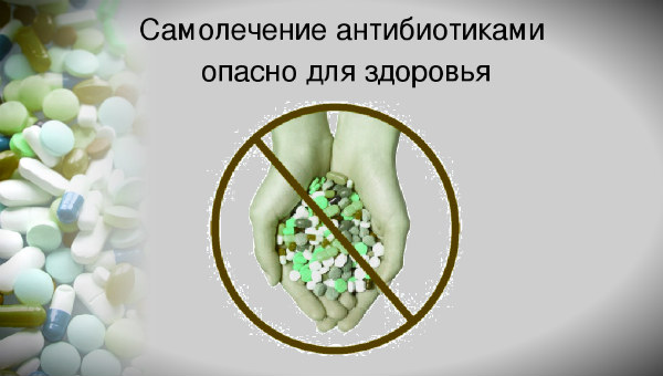 самолечение антибиотиков
