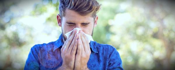 парень с прической аллергия